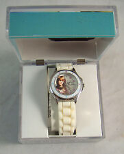 NOS Justin Bieber Time Watch Bravaso White Band In Orig Box NRFB Hearts NEW