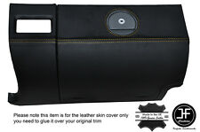 YELLOW STITCHING GLOVE BOX LEATHER COVER FITS CHRYSLER CROSSFIRE 03-08
