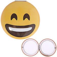 Smiling Emoji Face Emoticon Pocket Handbag Compact Mirror - Double Sided