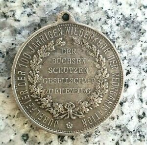 Schützenmedaille zu Eilenburg 1909 - 100.Jahrfeier der Schützen Gesellschaft