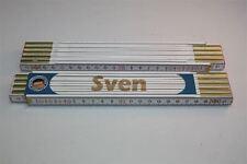 Zollstock mit  NAMEN      SVEN      Lasergravur 2 Meter Handwerkerqualität