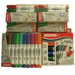 Kores Whiteboardmarker Whiteboard Marker Set 4 6 10 Stifte Tafellöscher Schwamm