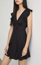 NWT BCBG MAX AZRIA Tyrah Sleeveless Ruffle Dress Sz 0 Black