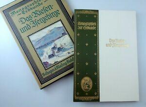 DAS RIESEN- UND ISERGEBIRGE von P. Regell, Meyer 1927 Monographien Riesengebirge
