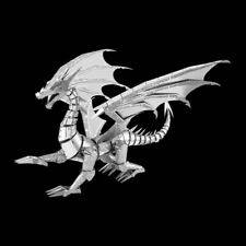 Metal Earth Silver Dragon ICONX DIY laser cut 3D steel model kit