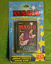 MAGIC SVENGALI CARD DECK M.O.C. (CARD BUBBLE REATTACHED) OVER 20 TRICKS NICE!