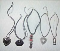 Chico's and Fossil necklaces. Large bulky chunky pendants. black cords +