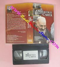 VHS film IL MIRACOLO DELLA CARITA' Padre Pio da Pietrelcina (F145) no dvd
