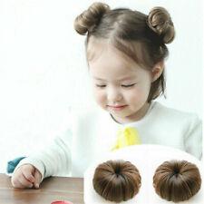 Baby Girl's Bun Hair Piece Scrunchie Hair Accessory Clip Hairpins Barrette US