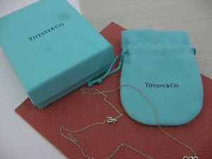 TIFFANY & CO. STERLING SILVER NECKLACE DOUBLE HEART PENDANT PALOMA PICASSO