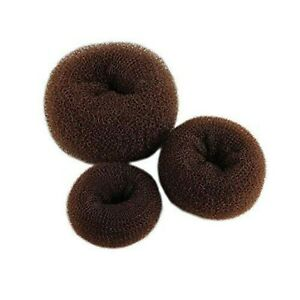 3 Pieces Brown Women Hair Bun Maker Donuts Ring - (1Large, 1Middle, 1Small) UK