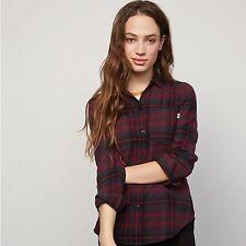Women's VANS Adolescence Flannel 100 Cotton Shirt Plum Size XS