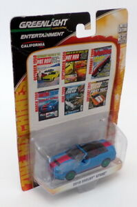 Greenlight 1/64 Scale 21740-X - 2010 Shelby GT500 - Blue/Red