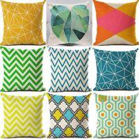 "18"" Geometric stripe Cotton Linen Pillow Case Cushion Cover Sofa Home Decor"