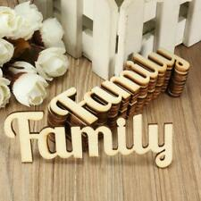 10pcs Family Wooden Craft Cutout Wooden Pieces Card Making DIY