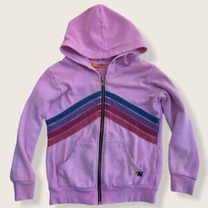 Aviator Nation Kids Zip Up Fleece Hoodie Size 8