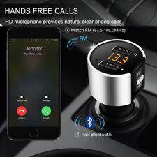 Bluetooth 4.2 Wireless Handsfree Car FM Transmitter MP3 Player 2 USB Charger Kit