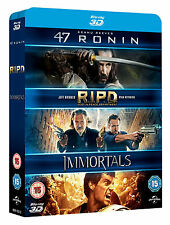 47 Ronin / RIPD / Immortals [Blu-ray 3D] [2011] [Region Free] New Factory Sealed