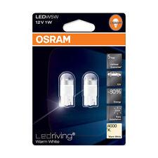 OSRAM LED Wedge Globe Twin Pack T10 12V 1W 4000k Warm White 5 Year Warranty