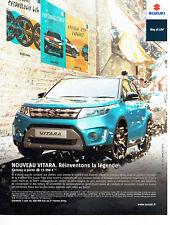 Publicité Advertising 011  2016   nouveau Vitara 4x4 Suzuki