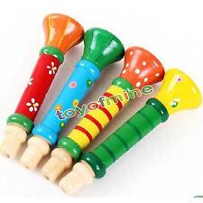 Bébés Childrens en bois de musique Jouets suona Trumpet Hooter Instruments Bugle