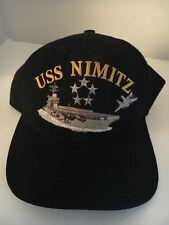 "U S Navy Cap ""Uss Nimitz"" Cvn-68 Made by California Headwear"