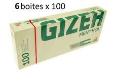 Lot De 6 Boîtes De 100 Tubes À Cigarettes Menthol - Gizeh