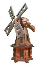 DREW-HANDEL W31 Traditional Large Decorative Wooden Windmill, Teak Colour