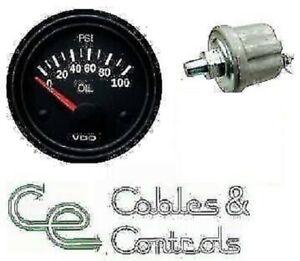 VDO 100 PSI 52mm 12v OIL PRESSURE GAUGE + SENDER 350010021 360.086 2y WARRANTY