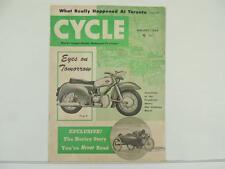 Vintage Jan 1954 CYCLE Magazine Harley Zundapp BSA Matchless Triumph L2929
