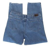 LL BEAN Comfort Waist Straight Leg Denim Blue Jeans Men's Size 40x34 100% Cotton