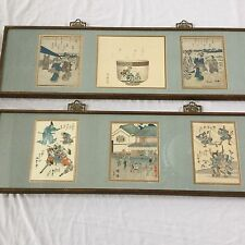 6 Woodblock Famed Japanese 20 centry Art