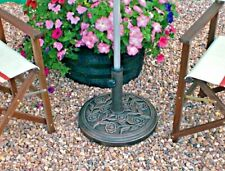 Cast Iron Effect Parasol Base Umbrella Stand Weights Garden Heavy Duty 9.5kg