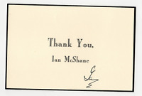 Ian McShane signed autographed greeting card! RARE! Guaranteed Authentic!