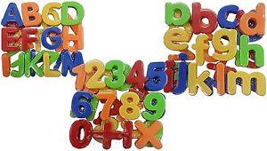 Magnet Buchstaben und Zahlen Magnetisches Alphabet Groß, Klein + Zahlen 80 Teile