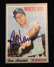 RON HANSEN 1970 TOPPS Autograph Signed AUTO Baseball Card 217 WHITE SOX FG