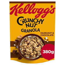 Kellogg's Crunchy Nut Granola Hazelnut & Chocolate 380g. Veg. Breakfast Cereal.