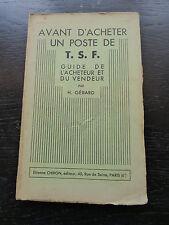 H.Gérard : avant d'acheter un poste TSF - guide de l'acheteur et du vendeur