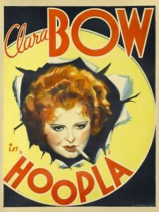 "Vintage Look Hollywood Movie NEW Metal Sign: Clara Bow in ""Hoopla."""