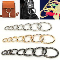 5pcs Openable Keyring Metal Spring Gate O Ring Bag Strap Buckle Clasp Craft DIY