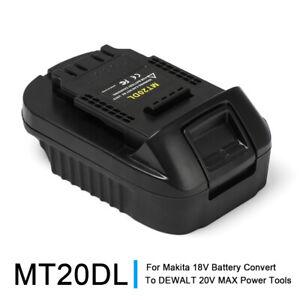 Portable Battery Adapter For Makita 18V Battery Convert to DEWALT Power Tools
