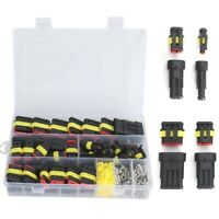 26 Sets Waterproof IP68 Car Electrical Wire Connector Plug 1-4 Pin Plug Kit 12A