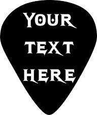Guitar Pick Text Name Rock Music Car Truck Window Laptop Vinyl Decal Sticker