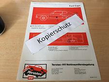 Ford Capri, Terotex Hohlraumversiegelungsplan