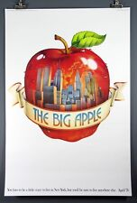 """The Big Apple"" NYC Ogilvy and Mather, New York City, Rare Vintage Poster 1976"