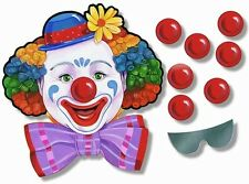CARNIVAL GAME Pin the Nose On the Clown CIRCUS PARTY Birthday Fun for 12 Guests