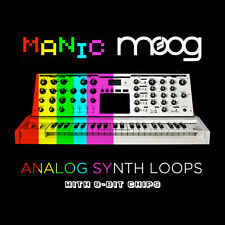 Manic Moog Analog Synth Loops EDM Complextro Chiptune (24-Bit WAV) Logic Ableton