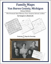Family Maps Van Buren County Michigan Genealogy MI Plat