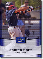 """JAVIER BAEZ 2012 LEAF DRAFT """"BLUE PARALLEL"""" NATIONAL PROMOTIONAL ROOKIE CARD!!"""