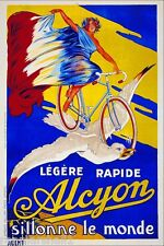 Legere Rapide Alcyon Bicycle Paris France French Advertisement Art Poster Print